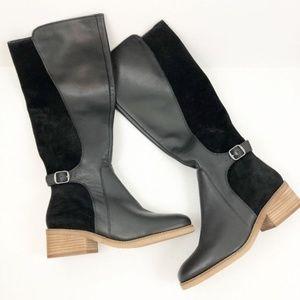 LUCKY BRAND Timinii Black Tall Knee Boots